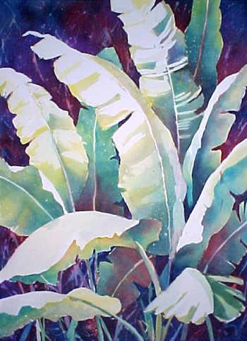 Floral Banana Plant Watercolor